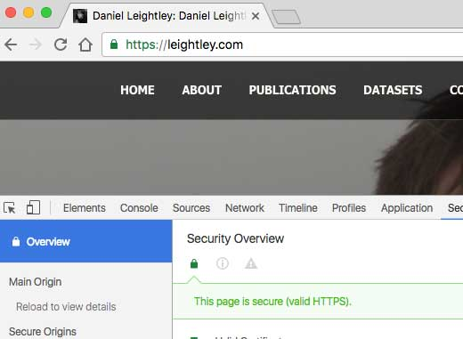 Image of Leightley.Com ssl