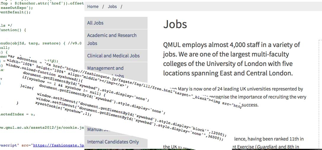 "Queen Mary University of London Job Site ""Hacked"""