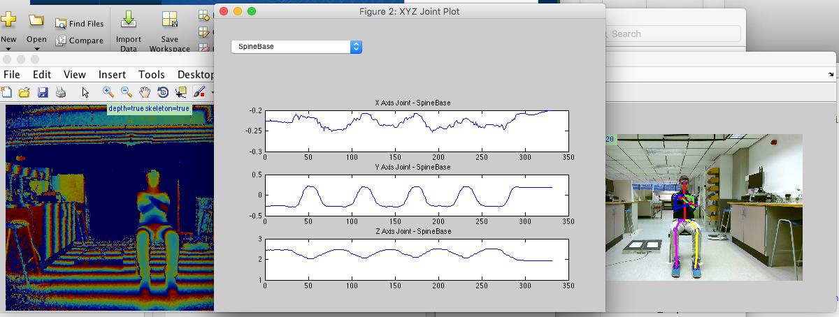 Visualising Kinect data using Matlab