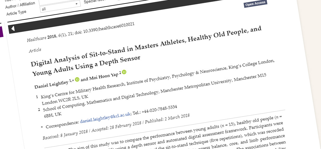 Digital Analysis of Sit-to-Stand in Master Athletes, Healthy Old and Young Adults using a Depth Sensor