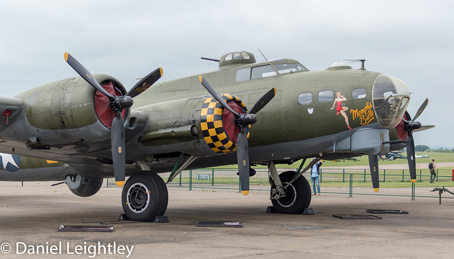 Sally B Bomber side on