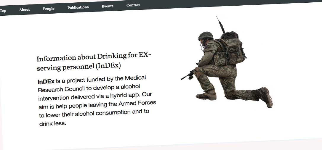 Just Published: A Smartphone App and Personalized Text Messaging Framework (InDEx) to Monitor and Reduce Alcohol Use in Ex-Serving Personnel