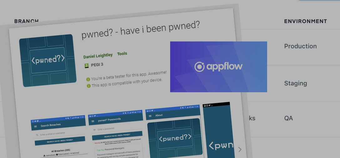 Getting savvy with Ionic Appflow: Testing it with the pwned? app