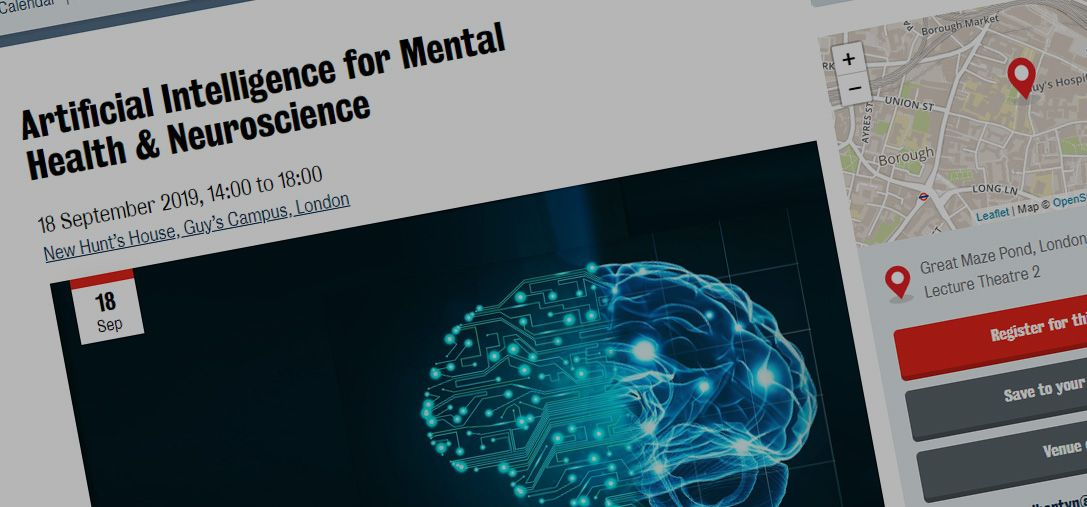 I'm presenting: Artificial Intelligence for Mental Health & Neuroscience